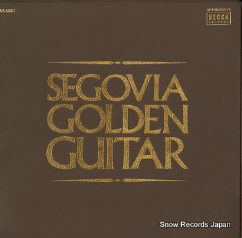 SEGOVIA, ANDRES golden guitar