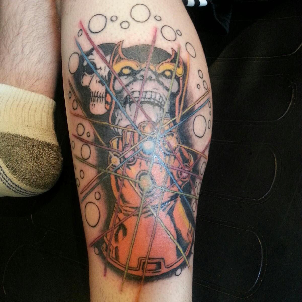 Tattoo: 2nd session. Infinity Gauntlet. Thanos and Death ...