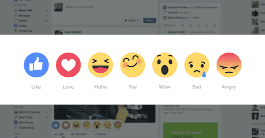 Facebook empowers users with reactions emojis