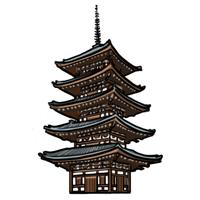 京都のイラスト京都の名物や観光地のイラスト
