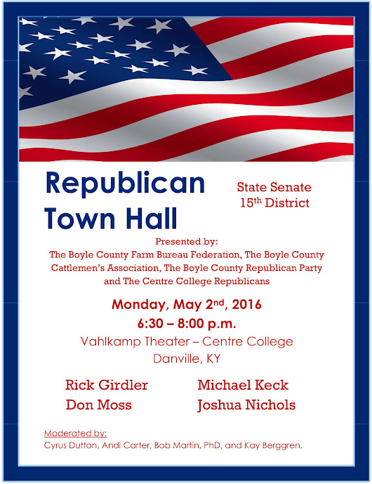 Republican Town Hall at Centre College in Danville - Boyle County Republican Party | Boyle County Republican Party