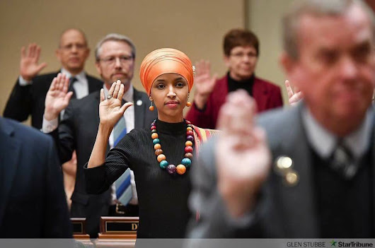 This photo of Ilhan Omar's swearing-in ceremony shows exactly why representation matters