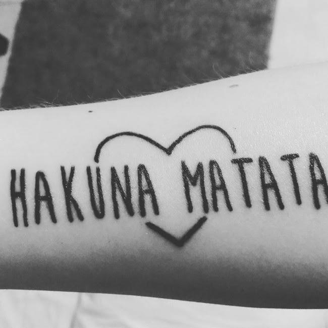40 Inspiring Hakuna Matata Symbol Tattoos Its Meaning