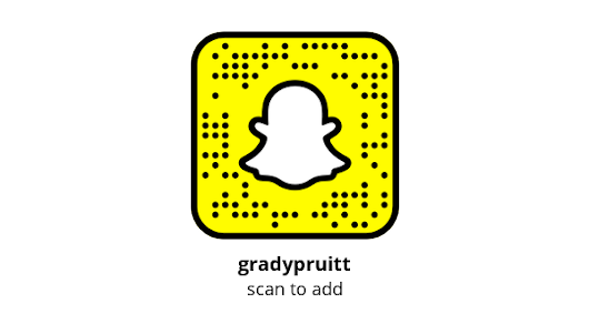 Add me on Snapchat! Username: gradypruitt