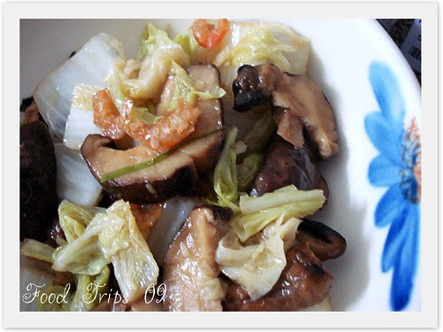 FT stir-fried napa cabbage