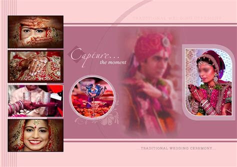 Indian Wedding Album Cover Design 17x24 Psd Templates