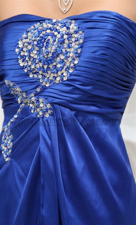Royal Blue Strapless Prom Dress Evening Formal Gown