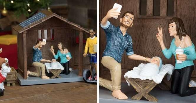 Como seria o presépio se Jesus tivesse nascido em 2016