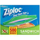 Ziploc Easy Open Tabs Sandwich Bags