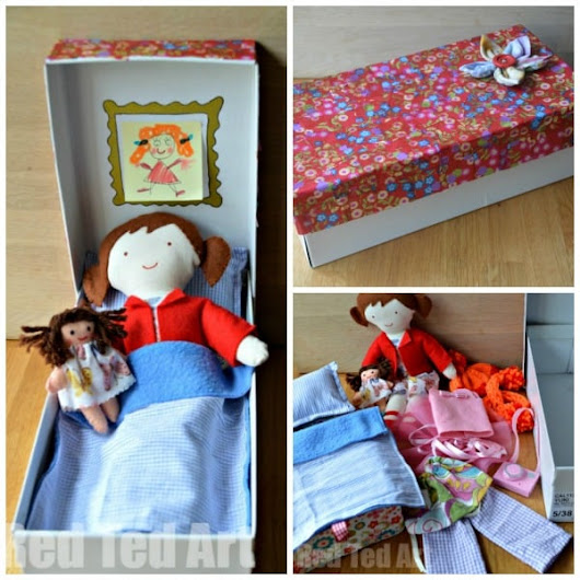 Doll in a Box - My Gift to my 5yrd Old - Red Ted Art's Blog