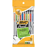 Bic Pencil, No. 2, Medium, 0.7 mm - 10 pencils
