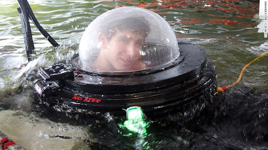 High-school teen builds one-man submarine for $2,000