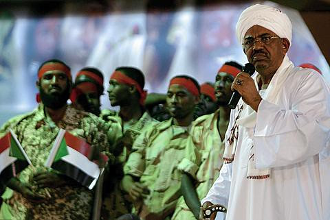 Sudan President Omar Hassan al-Bashir speaking at a youth rally of the ruling National Congress Party on April 18, 2012. The president said that they would have to liberate the south if provocations continue. by Pan-African News Wire File Photos