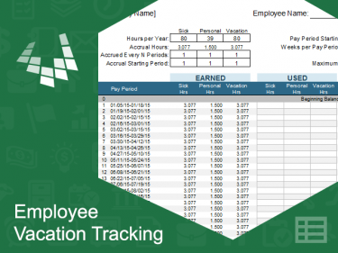 Employee Vacation Tracking Template | Meylah