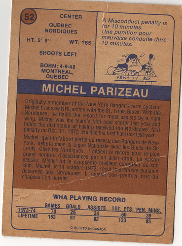 Michel Parizeau back