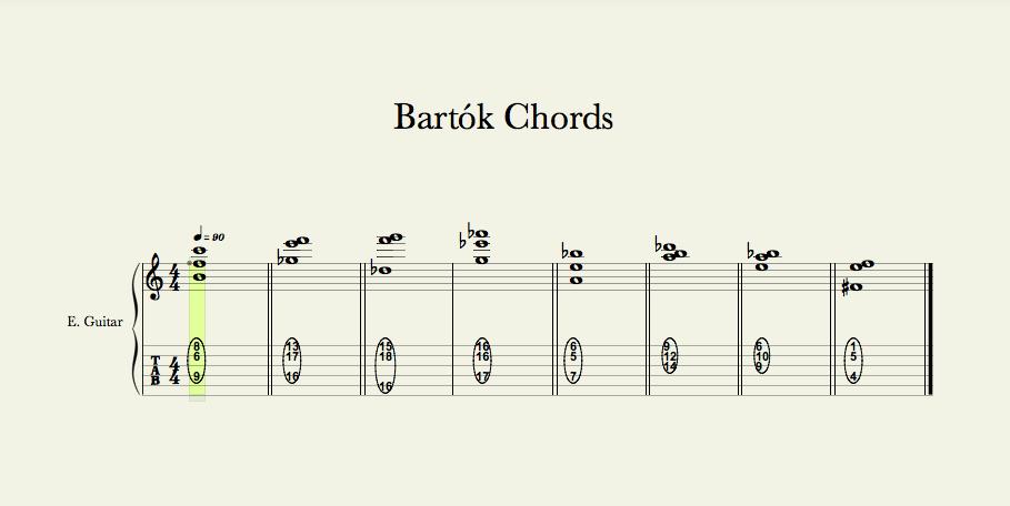 Bartók chords