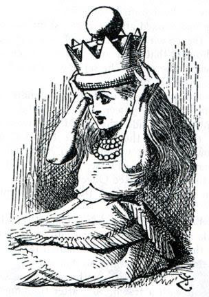 ink sketch of Alice in Wonderland