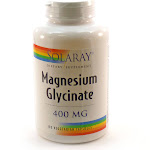 Magnesium Glycinate 400 mg By Solaray - 120 Veg Capsules