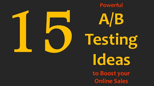15 E-Commerce A/B testing ideas