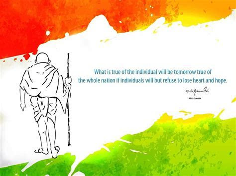 Bapu Gandhi Quote With Indian Flag 4k HD Wallpaper   HD
