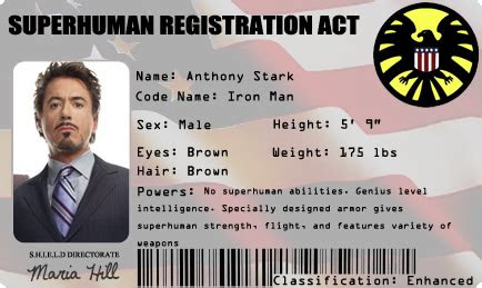 superhero id card google search  images anthony