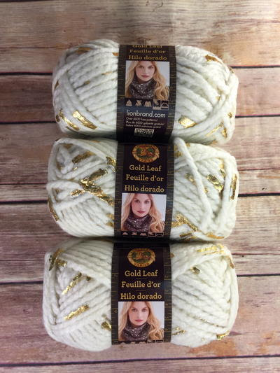 Lion Brand Gold Leaf Yarn Bundle