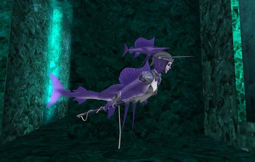 Purple fish woman