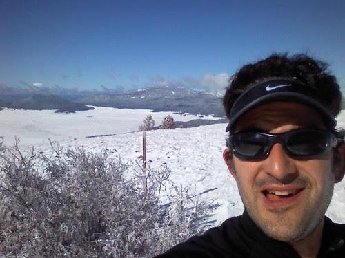 Me, caldera, up at 10400 feet, midrace