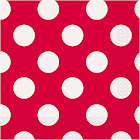 Red Dots Lunch Napkins (16 Count)