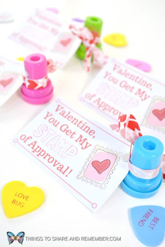 Valentine, You Get My Stamp of Approval Printable