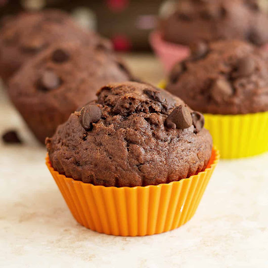 Double Chocolate Chip Muffins - Ilona's Passion