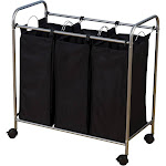 Household Essentials 3 Removable Bags Laundry Sorter with