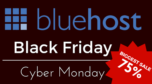 Bluehost Discounts Up to 75% Hosting on Black Friday & Cyber Monday 2016 - Spring Coupon