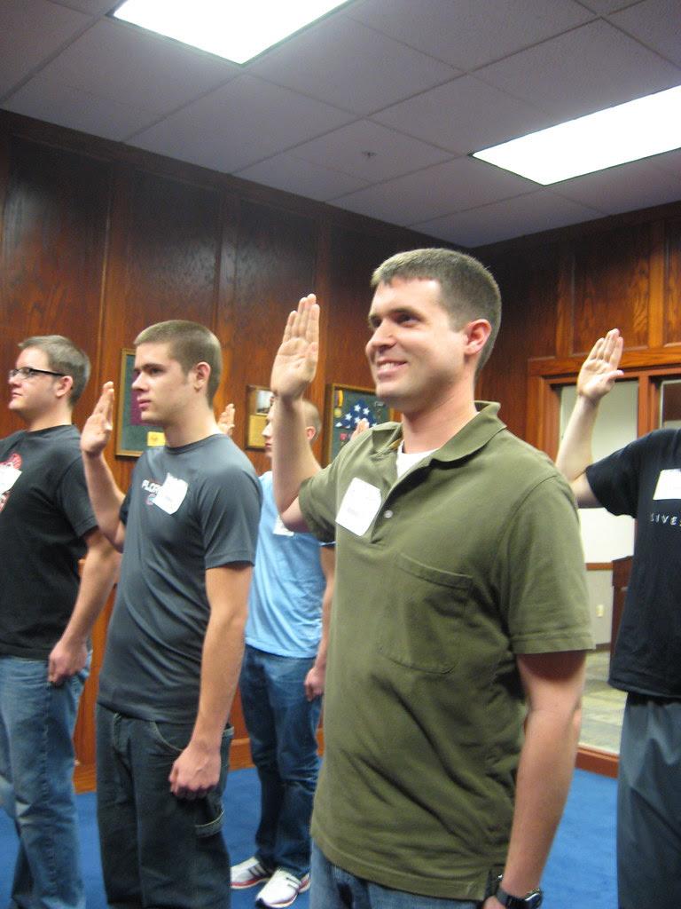 Cody Swearing in USAF - 1-4-2011