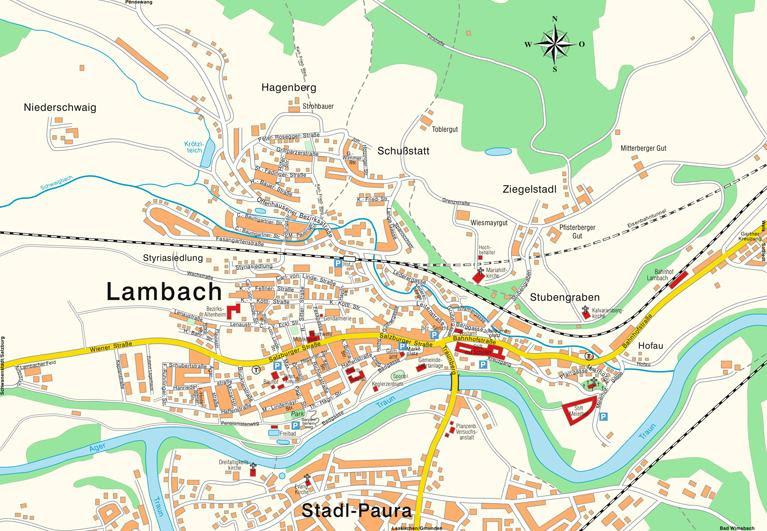 Stadtplan Lambach 5217