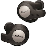 Jabra Elite Active 65T Wireless Secure-Fit Earbuds with Charging Case - Black