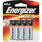 Energizer Max E91BP-4 AA Batteries