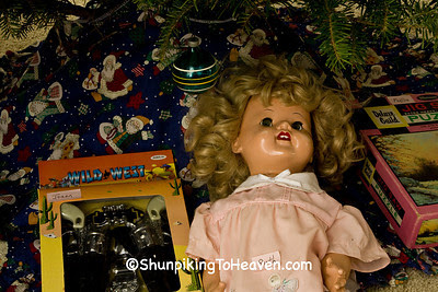 Old-Fashioned Toys Under the Christmas Tree