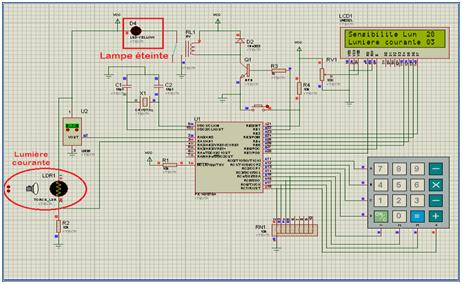 Commande de l'éclairage public avec affichage de la température, à base de PIC16F876