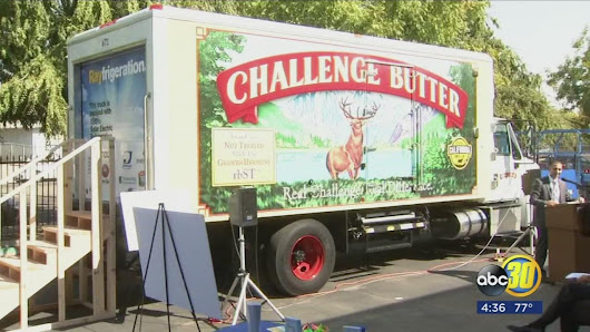 Local dairy company also seeks to clear the air while transporting products