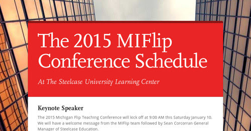 The 2015 MIFlip Conference Schedule
