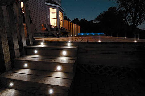 LED Step Lights & Stair Lighting - Indoor and Outdoor