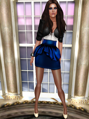 black and electric blue hairstyles. Skin: Alexia electric blue *(Lara Skin) Corset: Old English Corset Snow *(WY