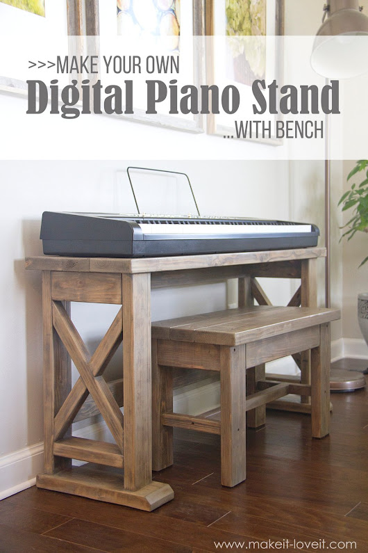 DIY Digital Piano Stand plus Bench (...a $25 project!!) | Make It and Love It