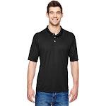Hanes 4800 Men's 4 oz. Cool Dri with Fresh IQ Polo Shirt in Black