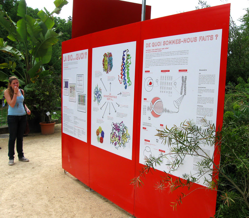 L'expo Chromosome Walk à Neuchâtel