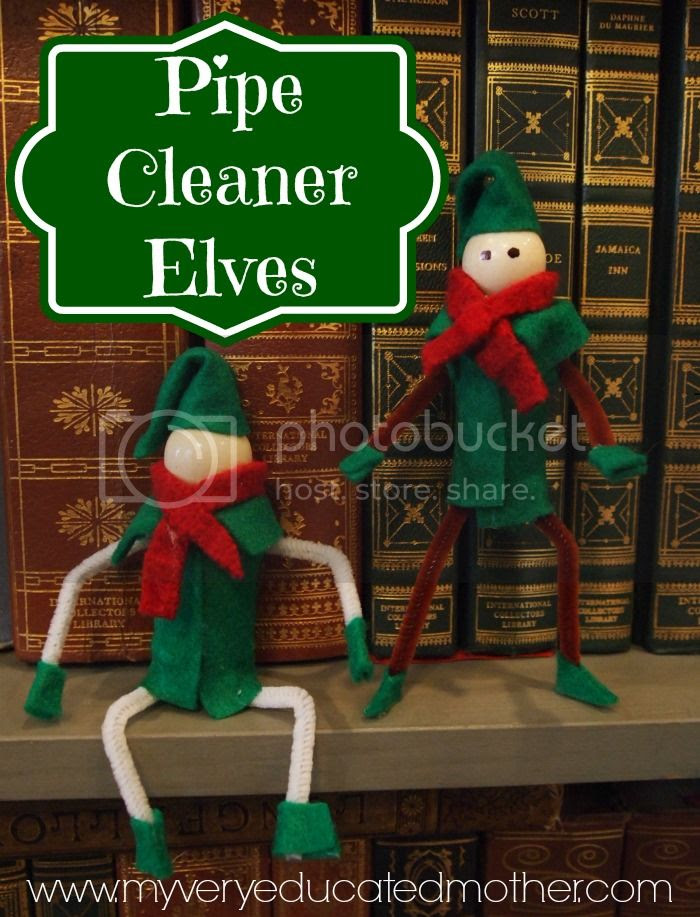 Pipe Cleaner Elves #Christmas #ornaments #crafts #fun #ElfonShelf