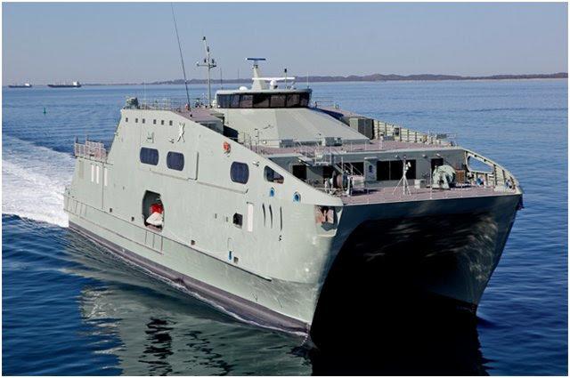 Austal se está preparando para entregar la última variante de la plataforma de buques de soporte teatral probada de la compañía, el buque de soporte de alta velocidad (HSSV), a la Royal Navy of Oman (RNO) en abril de 2016, tras exitosos ensayos de aceptación en Australia Occidental.