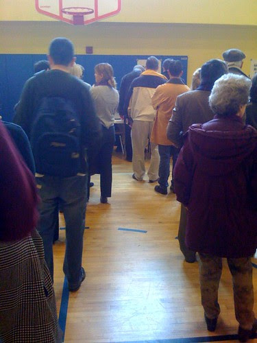 The voting lines 10:30a NW DC