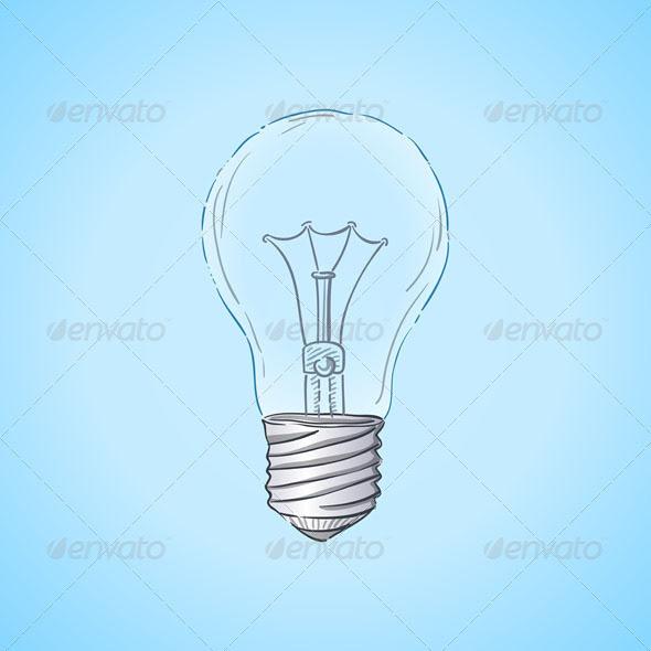 590 x 590 · 54 kB · jpeg, GraphicRiver Lightbulb Illustration ...